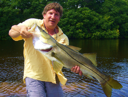 Catching Snook in Lagoon
