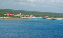 Costa Maya Dock from air