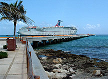 The Costa Maya dock at Majahual