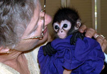Sheryl and Baby Monkey
