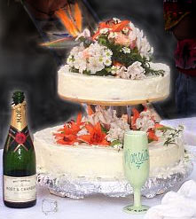 Wedding cake - tres leches