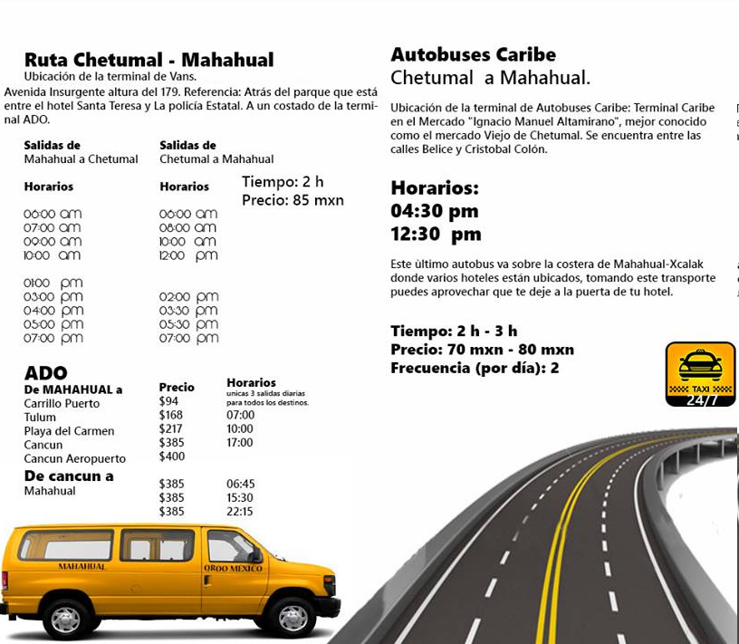 ADO and Van bus schedule